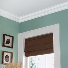 How to install easy crown molding- Definitely for the living room at least.