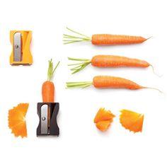 ニンジンを削る大きな鉛筆削り。包丁ではカットできないおもしろいかたちに野菜が削れます。 : インテリア雑貨の伊勢海老太郎ブログ