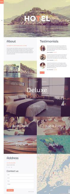 Hotel Booking  Responsive Joomla Template