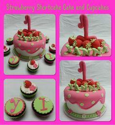 Strawberry Shortcake fondant cake