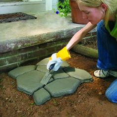 How to: garden path from concrete molds