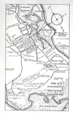 Neat map of Scituate, MA with key dates from the Scituate Historical Society. Men  of Kent Map1633.jpg