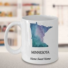 Minnesota State Coffee Mug  Home Sweet Home  Choose Your
