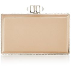 Judith Leiber Couture Nude Rectangle Clutch ($2,195) ❤ liked on Polyvore featuring bags, handbags, clutches, purses, handbag purse, judith leiber handbags, nude purses, nude clutches and beige clutches