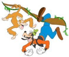 Goofy & Monkey