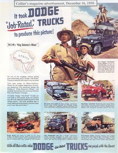 Dodge Power Wagons in Colliers, 1950