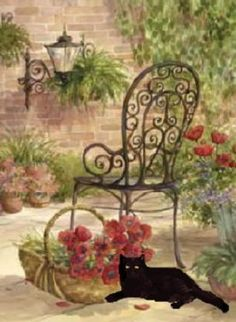 Garden Cat. Anyone know the artist?