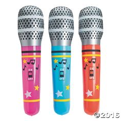 Giant Inflatable Microphones. Fulfill your child's pop star dreams in a giant-size way with these oversized vinyl inflatable microphones. Perfect for ...
