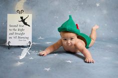 crochet photo prop 'Peter Pan' hat and diaper cover set size newborn or 0-3months on Etsy, $28.00