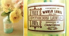 Printables, labels. by The Vintage Suitcase
