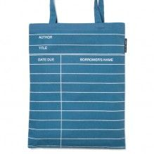 Out of Print library-tote_blue