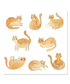 I like this cat, fat cats are fun. Print of artwork by Karen Vermeulen