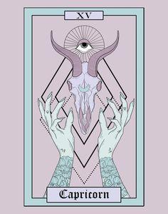 Capricorn Art, Capricorn Tattoo, Zodiac Art, My Zodiac Sign, Capricorn Aesthetic, Tarot Card Tattoo, Gothic Wallpaper, Small Canvas Art, Thing 1