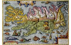 I made some travel journals with this paper. It's an Iceland map from 17th century Dutch cartographer Abraham Ortelius.