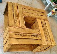 Table basse en caisse à pommes