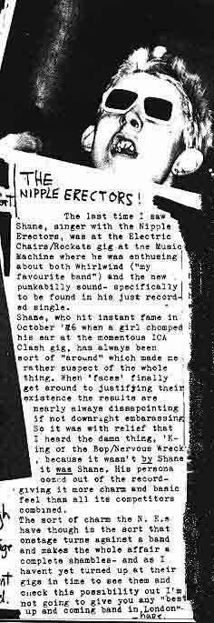The Nipple Erectors (The Nips) Live - Shane Macgowan Vocals - Ms Shanne Bradley - Bass - RippedTorn1978.