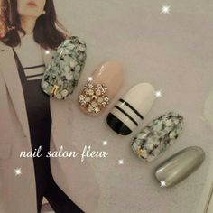 春ネイル♡ Office Nails, Fabulous Nails, Black Nails, Body Mods, Winter Nails, Nail Arts, Cute Hairstyles, Cute Nails, Nail Colors