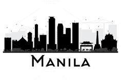 #Manila #City #Skyline #Silhouette by Igor Sorokin on @creativemarket