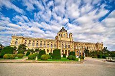 Обои Вена Австрия Кусты Дворец Maria Theresa Square Города