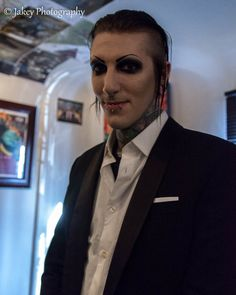 *cries* because Chris Motionless in a fucking suit thats why