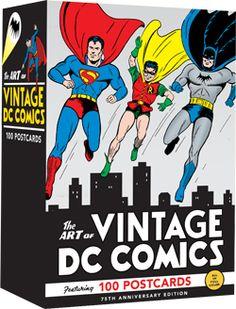 The Art of Vintage DC Comics: 75th Anniversary (100 Postcards)