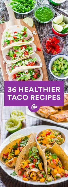 From roasted vegetable to buffalo chicken to chocolate (oh yeah!) and more, these recipes will... #tacos #recipes #healthy http://greatist.com/eat/healthy-taco-recipes