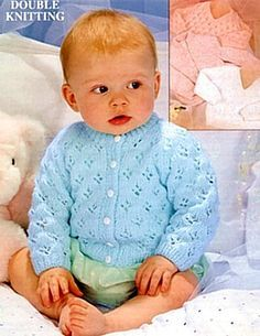 Vintage Baby Knitting Patterns - Page 1 Baby Cardigan Knitting Pattern Free, Baby Sweater Patterns, Knitted Baby Cardigan, Knit Baby Sweaters, Knitted Baby Clothes, Baby Patterns, Baby Knits, Knit Patterns, Knitting For Kids