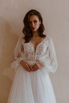 2nd Wedding Dresses, Tea Length Wedding Dress, Long Sleeve Wedding, Wedding Dress Sleeves, Colored Wedding Dresses, Boho Wedding Dress, Bridal Dresses, Mermaid Wedding, Ceremony Dresses