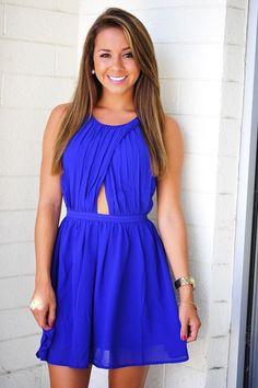 Blue Open Heart Dress