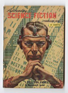 February 1951 ASTOUNDING SCIENCE FICTION Pulp Novel || Raymond F. Jones || Dianetics Advertisement