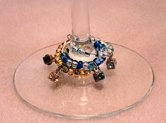Wine Glass Charms by LoneMountainDesigns on Etsy, $13.00