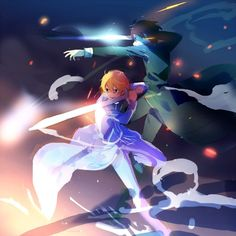 Kirito e Eugeo Arte Online, Online Art, Otaku Anime, Manga Anime, Bugs Bunny Drawing, Eugeo Sword Art Online, Sword Art Online Season, Desenhos Love, Sword Art Online Wallpaper
