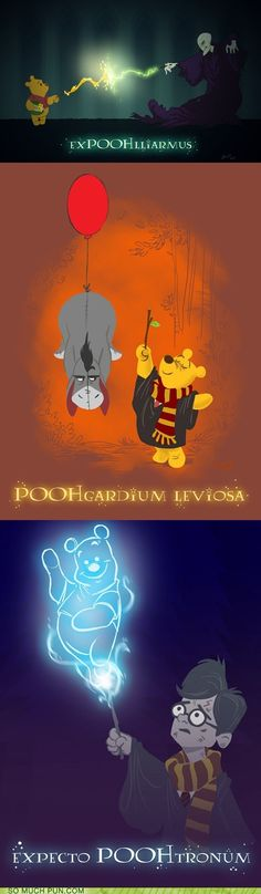 Harry Pooh-ter! Voldemort's come to steal Pooh's honey again!? Oh bother.