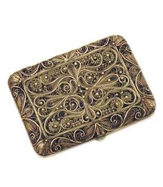 Vintage filigree card holder/cigarette case..