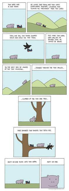 Tiny hippo comic (*NSFW*)