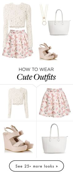 "Idée et inspiration look d'été tendance 2017   Image   Description   ""Cute summer outfit"" by linhdan-lh on Polyvore featuring Alberto Guardiani, A.L.C. and Kate Spade"