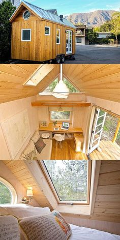 Beautiful wooden mobile tiny house