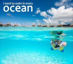 "Today is ""Oceans Day"", and what better day to add ""Swim in every ocean"" to your bucket list?"