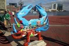 Crab, Art, Inner Harbor, Baltimore, Maryland