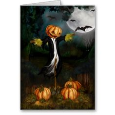 Creepy Scarecrow in field   ... Customized T Shirts and More: Lonely Scarecrow in the Pumpkin Patch