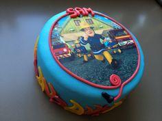 #brandweerman Sam taart #fireman Sam cake