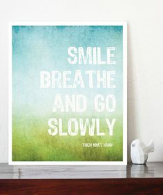 One step, one breath, repeat repeat repeat. Love this gentle reminder.