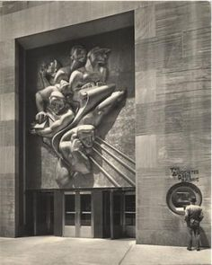 Noguchi is awarded his first major commission, the Associated Press Building Plaque at Rockefeller Center. He begins work on a large relief in plaster for casting in stainless steel (completed Art Nouveau, Art Deco, Isamu Noguchi, Long Island City, Rockefeller Center, Geometric Shapes, Rationalism, It Cast, Museum