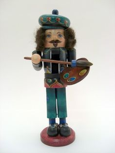 Unique Nutcrackers | French Painter Nutcracker by nutcrackersnmore on Etsy