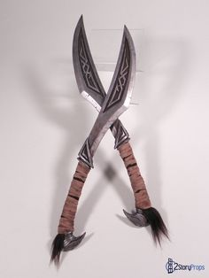 Props made for an upcoming Skyrim costume, these Nordic Daggers were a speed build also intended for the purpose of making a time lapse video of the entire build process. The daggers are roughly 18...
