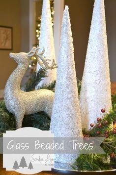 Easy and Elegant Glass Beaded Trees- Sondra Lyn at Home