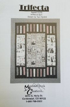 Trifecta by Mountainpeek Creations // Quilting Pattern Buy at Tea Time Quilting on SALE for $4.25 www.teatimequilting.com