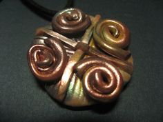 Polymer clay with spiral motive