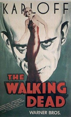 vintage horror movie posters | ... WALKING DEAD Portrait - Vintage Horror Movie Posters Wallpaper Image