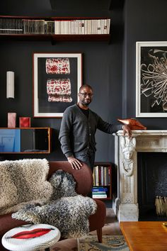 """Collector Ike Udechuku <a href=""""http://www.architecturaldigest.com/story/ampersand-house-everything-is-for-sale"""">home</a> in Brussels captivates with it ..."""